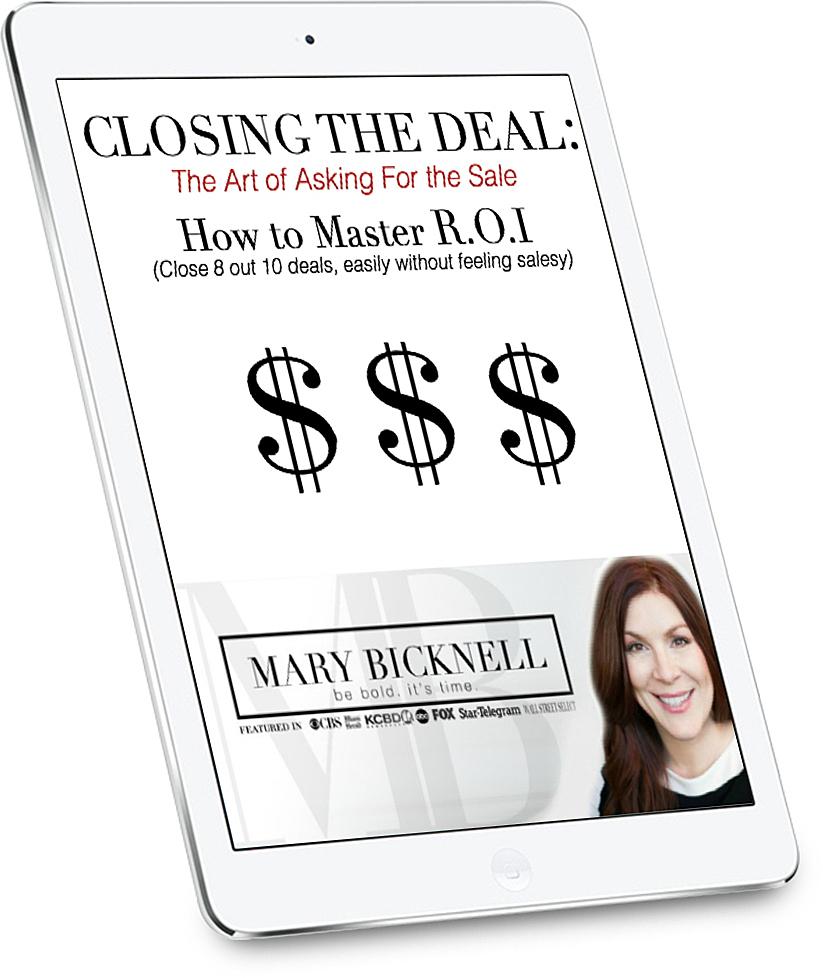 Closing the deal ipad